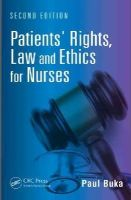 Buka, Paul - Patients' Rights, Law and Ethics for Nurses, Second Edition - 9781482217391 - V9781482217391