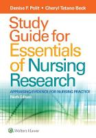 Polit PhD  FAAN, Denise F., Beck DNSc  CNM  FAAN, Cheryl Tatano - Study Guide for Essentials of Nursing Research - 9781496354693 - V9781496354693