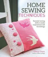 CHERYL OWEN - Home Sewing Techniques - 9781504800037 - V9781504800037