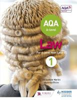 Martin, Jacqueline, Price, Nicholas - AQA A-level Law for Year 1/AS - 9781510401648 - V9781510401648
