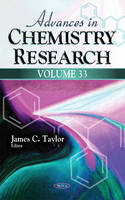 James C Taylor - Advances in Chemistry Research - 9781536100600 - V9781536100600
