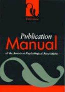 American Psychological Association - Publication Manual of the American Psychological Association - 9781557987914 - KEX0251312