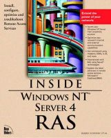 Hallberg, Bruce, Sosinsky, Barrie, Bezilla, Tony, Hall, Mark - Windows NT Server 4: Remote Access Services and Communications - 9781562057350 - KTM0008599