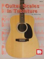 Bay, William - Guitar Scales in Tablature - 9781562224158 - V9781562224158