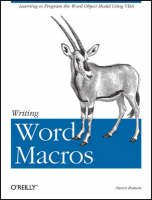 Roman, Steven (California State University, USA) - Writing Word Macros - 9781565927254 - V9781565927254