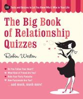 Westen, Robin - The Big Book of Relationship Quizzes - 9781579127923 - V9781579127923