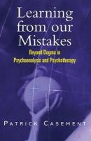 Casement, Patrick - Learning from Our Mistakes - 9781583912812 - V9781583912812