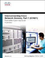 Sequeira, Anthony - Interconnecting Cisco Network Devices, Part 1 (ICND1) Foundation Learning Guide (4th Edition) (Foundation Learning Guides) - 9781587143762 - V9781587143762