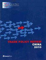World Trade Organization - Trade Policy Review - China 2010 - 9781598884418 - V9781598884418