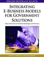 Susheel Chhabra, Muneesh Kumar - Integrating E-Business Models for Government Solutions - 9781605662404 - V9781605662404