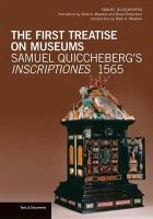 Quiccheberg, Samuel - The First Treatise on Museums - 9781606061497 - V9781606061497