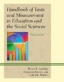 Lester, Paula E., Inman, Deborah, Bishop, Lloyd K. - Handbook of Tests and Measurement in Education and the Social Sciences - 9781610484305 - V9781610484305