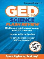 LearningExpress, LLC - GED Test Science Flash Review - 9781611030099 - V9781611030099