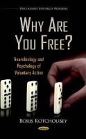 Kotchoubey, Boris - Why are You Free? - 9781619425347 - V9781619425347