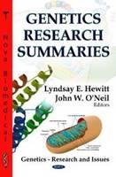 HEWITT L.E. - Genetics Research Summaries - 9781622576463 - V9781622576463