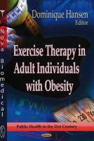 HANSEN D. - Exercise Therapy in Adult Individuals with Obesity - 9781622578115 - V9781622578115