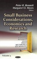 Bennett, Peter R. - Small Business Considerations, Economics & Research - 9781624172434 - V9781624172434