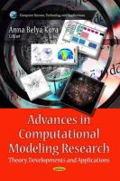 KORA, ANNA BELYA - Advances in Computational Modeling Research - 9781626180659 - V9781626180659