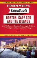 Reckford, Laura M., Morris, Marie - Frommer's EasyGuide to Boston, Cape Cod and the Islands (Easy Guides) - 9781628871104 - V9781628871104
