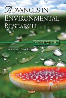Daniels, Justin A. - Advances in Environmental Research - 9781629482040 - V9781629482040