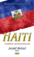 WETZEL, JERALD - Haiti: Conditions and Reconstruction (Latin American Political, Economic, and Security Issues) - 9781631172021 - V9781631172021