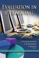 PSAROMILIGKOS Y - Evaluation in E-learning - 9781631173417 - V9781631173417