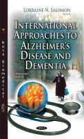 SALOMON L.N. - International Approaches to Alzheimer's Disease and Dementia (Neuroscience Research Progress) - 9781631176777 - V9781631176777