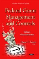 Greer, Dana T - Federal Grant Management and Controls: Select Assessments - 9781634825597 - V9781634825597