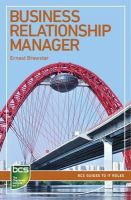 Brewster, Ernest - Business Relationship Manager: Careers in IT Service Management (BCS Guides to it Roles) - 9781780172507 - V9781780172507