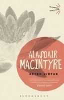 MacIntyre, Alasdair C. - After Virtue (Bloomsbury Revelations) - 9781780936253 - V9781780936253