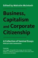 Malcolm McIntosh - Business, Capitalism and Corporate Citizenship: A Collection of Seminal Essays - 9781783534999 - V9781783534999