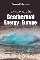 Ruggero Bertani - Perspectives for Geothermal Energy in Europe - 9781786342317 - V9781786342317