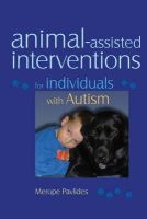 Pavlides, Merope - Animal-assisted Interventions for Individuals with Autism - 9781843108672 - V9781843108672