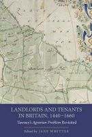 - Landlords and Tenants in Britain, 1440-1660 (People, Markets, Goods: Economies and Societies in History) - 9781843838500 - V9781843838500