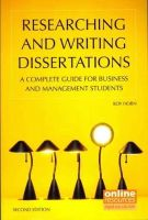 Horn, Roy - Researching and Writing Dissertations : A Complete Guide for Business and Management Students - 9781843983026 - V9781843983026