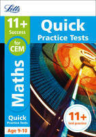 Collins Uk - Letts 11+ Success – 11+ Maths Quick Practice Tests: for the CEM tests: Age 9-10 - 9781844198900 - V9781844198900
