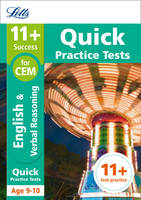 Collins Uk - Letts 11+ Success – 11+ Verbal Reasoning Quick Practice Tests: for the CEM tests: Age 9-10 - 9781844198917 - V9781844198917
