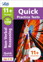 Collins UK - Letts 11+ Success – 11+ Non-Verbal Reasoning Quick Practice Tests: for the CEM tests: Age 9-10 - 9781844198924 - V9781844198924