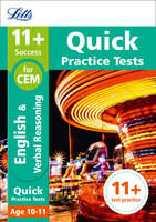 Collins Uk - Letts 11+ Success – 11+ Verbal Reasoning Quick Practice Tests: for the CEM tests: Age 10-11 - 9781844198948 - V9781844198948