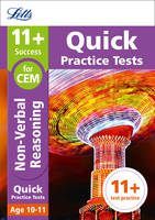 Collins UK - Letts 11+ Success – 11+ Non-Verbal Reasoning Quick Practice Tests: for the CEM tests: Age 10-11 - 9781844198955 - V9781844198955