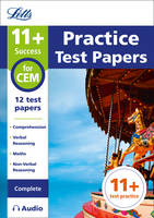 Collins UK - Letts 11+ Success – 11+ Practice Test Papers for the CEM tests (Complete) inc. Audio Download - 9781844198986 - V9781844198986