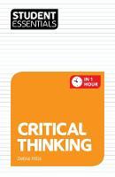 Hills, Debra; Trotman - Student Essentials: Critical Thinking - 9781844552740 - V9781844552740