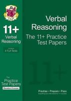 Parsons, Richard - 11+ Verbal Reasoning Practice Test Papers: Standard Answers - 9781847628220 - V9781847628220