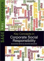Benn, Suzanne; Bolton, Dianne - Key Concepts in Corporate Social Responsibility - 9781847879295 - V9781847879295