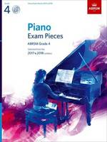 - Piano Exam Pieces 2017 & 2018: Grade 4: Selected from the 2017 & 2018 Syllabus (ABRSM Exam Pieces) - 9781848498846 - V9781848498846