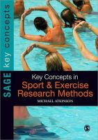 Atkinson, Michael - Key Concepts in Sport and Exercise Research Methods - 9781848607293 - V9781848607293