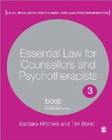 Mitchels, Barbara; Bond, Tim - Essential Law for Counsellors and Psychotherapists - 9781848608863 - V9781848608863