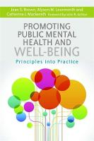 Jean S. Brown, Alyson M. Learmonth, Catherine J MacKereth - Promoting Public Mental Health and Well-Being: Principles into Practice - 9781849055673 - V9781849055673