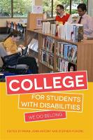 - College for Students with Disabilities: We Do Belong - 9781849057325 - V9781849057325