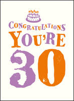 . - Congratulations You're 30 (Gift Books) - 9781849539012 - V9781849539012